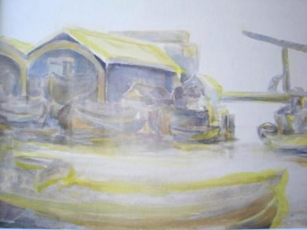 Werven Kromhout en Koning William, aquarel, Martin Coppes 2005